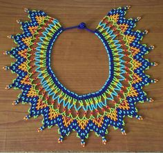 Beaded Jewelry, Beaded Necklace, Hand Painted Furniture, Hama Beads, Bead Crafts, Bead Weaving, Beading Patterns, Doilies, Beadwork