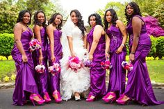 Maids Http Beautifulbrownbride Blo Wedding Bridesmaid Flowers Orchid