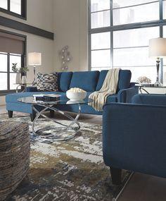Jarreau Sofa Chaise Sleeper Blue With Images Chaise Sofa Queen Sofa Sleeper Ashley Furniture