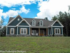 Serenbe Farmhouse is a one story craftsman country house plan with an optional lower level. The main level floor plan features 3 bedrooms, 2 baths, and a 2 car garage.