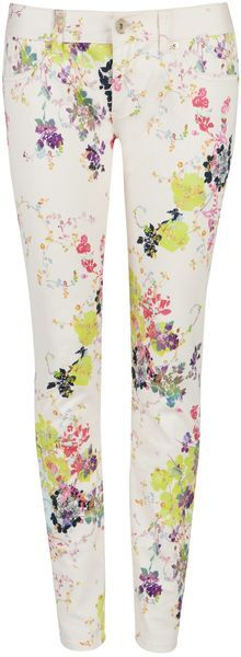 6139d04554e98d TED BAKER LONDON Eleano Summer Bllom Printed Jean - Lyst Ted Baker Jeans