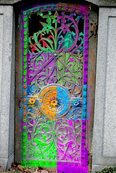 colorful door.