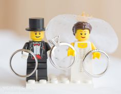Wedding Rings :: Lego Bride and Groom :: Michelle Girard Photography