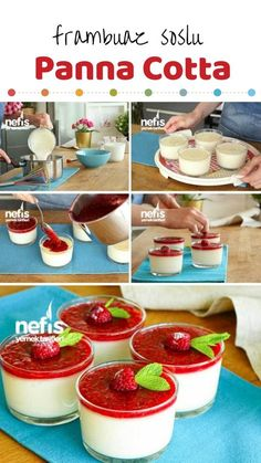 How to make Panna Cotta Recipe (Real Italian Flavor - Raspberry Sauce)? Video description of this recipe in the book of people and photos of the experimenters. Raspberry Recipes, Raspberry Sauce, Oreo Pops, Panna Cotta, Turkish Recipes, Ethnic Recipes, Cake Recipes, Dessert Recipes, Mini Tart