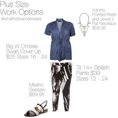 """Plus Size Work Options"" by whattheteacherwears on Polyvore"