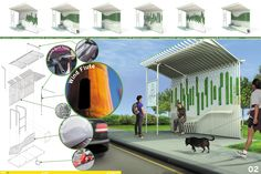 SOFTlab is a design studio based in New York City. Car Shelter, Bus Shelters, Architecture Building Design, Architecture Photo, Bus Stop Design, Presentation Board Design, Bus Station, Urban Furniture, Public Transport
