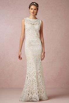 "Brides.com: . ""Ines"" gown, $700, Tadashi Shoji available at BHLDN"