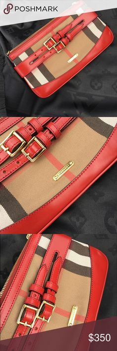 Authentic Burberry clutch No flaws, perfect condition, authentic, does not comes with shoulder strap. ❤❤❤❤ 10x6 Burberry Bags Clutches & Wristlets