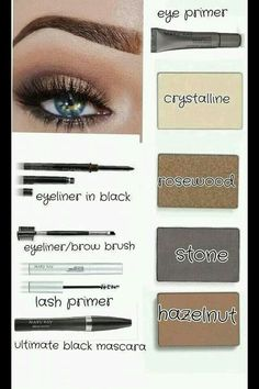 This will be the next color look I try! You can as well at www.marykay.com/mrehr #eyeshadow #colorlook #blueeyes  #marykay #crystalline #rosewood #stone #hazelnut #beautifuleye