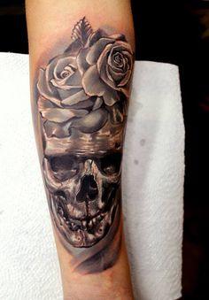 50 Skull Forearm Tattoo