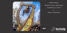 Available as a static installation or parade float from Bui Bolg Community Events, Harp, Beautiful Hands, Celtic, Street Art, Image