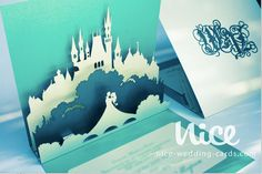 30 FAIRYTAIL wedding invitation laser cut / by niceWeddingCards, $300.00