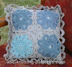Flower Arbor Cushion tutorial with charts by ABC Knitting patterns