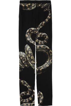 lanvin serpent pants; kinda creepy but kinda good