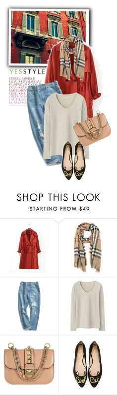 """""""YESSTYLE.com"""" by monmondefou ❤ liked on Polyvore featuring Burberry, Chuoku, Kate Spade, yesstyle and prefall"""