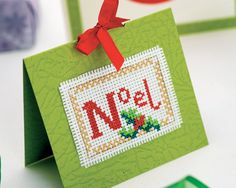 Cross Stitched Christmas Cards. Free pattern from Sew Magazine online.