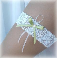 KRAJKOVÝ SVATEBNÍ PODVAZEK zelená mašlička Bracelets, Jewelry, Fashion, Moda, Jewlery, Jewerly, Fashion Styles, Schmuck, Jewels