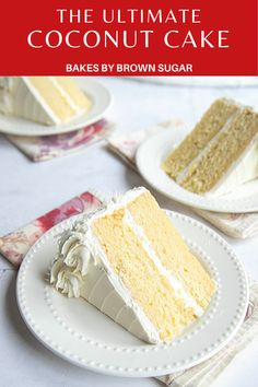 This Coconut Layer Cake is a coconut hat trick, made with coconut flour, coconut milk, and coconut oil. It's a super moist cake and the coconut ermine frosting is amazing. Spring Desserts, Party Desserts, Coconut Frosting, Coconut Milk, Ermine Frosting, Cookie Recipes, Dessert Recipes, Dessert Ideas, Two Layer Cakes