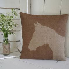 rustic horse cushion by rustic country crafts | notonthehighstreet.com