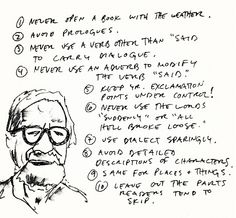 """Although I agree with nine out of ten of these rules for writing by Elmore Leonard, I am totally in favor of using verbs other than """"said."""" What is wrong with them? I love muttering, murmuring, quizzing, declaiming, noting, reckoning, and surmising. Who could object to those things?"""