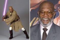 Samuel L Jackson em 2005 e em 2015