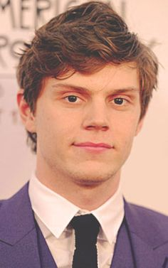 Evan Peters is a much better actor than a lot of people like for instance emma Roberts (his girlfriend)...I can't believe he's not in more cast bc he's amazing! And this is coming from a theater nerd so ik talent when I see it and he definitely has it. I mean he's played already 3 different characters and has had 3 different looks in AHS, plus in other movies. HE IS THE DEFINITION OF PERFECT