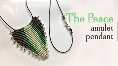 Macrame pendant tutorial: The peace amulet - need the most simple macram...