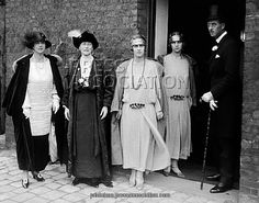 Princess Andrew (Alice) of Greece, Princess Alice of Battenberg (her mother), Princesses Margharita and Theodora (her daughters),  and Prince Andrew of Greece (her husband).  The Duke of Edinborough's parents, grandmother, and two of his sisters.
