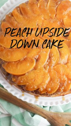 Delicious Desserts, Dessert Recipes, Yummy Food, Tasty, Peach Upside Down Cake, Upside Down Cakes, Pineapple Upside Down Cake, Peach Cake, Summer Desserts