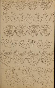 [Book of designs Cutwork Embroidery, Floral Embroidery Patterns, Hand Embroidery Flowers, Hand Work Embroidery, Vintage Embroidery, Embroidery Stitches, Embroidery Designs, Sewing Art, Sewing Crafts