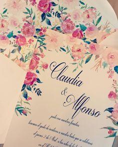 Invitación florar de Claudia y Alfonso