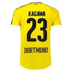 BVB Borussia Dortmund 16-17 Shinji Kagawa 23 Hjemmebanetrøje Kortærmet.  http://www.fodboldsports.com/bvb-borusland-dortmund-16-17-shinji-kagawa-23-hjemmebanetroje-kortermet.  #fodboldtrøjer