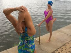 Active.com presents 4 post-swim stretching exercises that will keep you loose and help you avoid injuries. I wish I'd used these more when I swam competitively in high school! Oh well, I can still use them after workouts now.