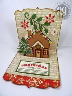 Annette's Creative Journey: Unique Pop-up Christmas Cards using ECD Karen Burniston dies - inside; Nov 2014