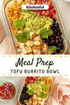 Vegan Weekly Meal Plan, Veg Meal Prep, Easy Meal Prep Lunches, Vegetarian Meal Prep, Vegan Meal Plans, Healthy Tofu Recipes, Easy Healthy Meal Plans, Quick Healthy Lunch, Vegan Lunch Recipes