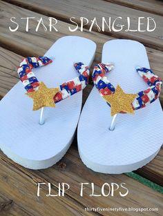 Star Spangled Flip Flops