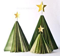Arbre de Noël décorations de Page du livre  Set par AnthologyOnMain, $50.00