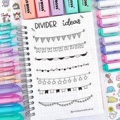New divider ideas for your bullet journal/study notes ⭐️let me know if you like them ⭐️ where are you guys from? If you want to… Bullet Journal School, Bullet Journal Titles, Bullet Journal Banner, Journal Fonts, Bullet Journal Notebook, Bullet Journal Aesthetic, Bullet Journal Inspiration, Bullet Journal Dividers, Bullet Journals