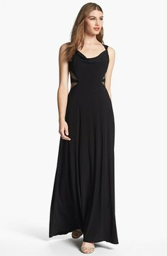 Hailey by Adrianna Papell Mesh Inset Jersey Gown available at #Nordstrom
