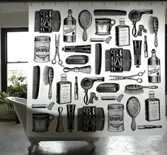 homewerx the modern lifestyle store: Apothecary Shower Curtain