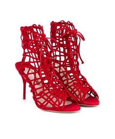 SOPHIA WEBSTER - Delphine Suede Lace-Up Booties
