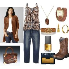 Plus Size Leopard Cowgirl - Casual and Fun!