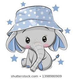 Find Cute Cartoon Elephant Panama Hat Isolated stock images in HD and millions of other royalty-free stock photos, illustrations and vectors in the Shutterstock collection. Thousands of new, high-quality pictures added every day. Cute Elephant Cartoon, Cute Cartoon Animals, Baby Elephant, Baby Animals, Cute Animals, Drawing Cartoon Animals, Cartoon Elephant Drawing, Cute Baby Cartoon, Elephant Nursery Art