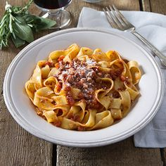 Tagliatelle Bolognese - Traditional slow-cooked meat sauce