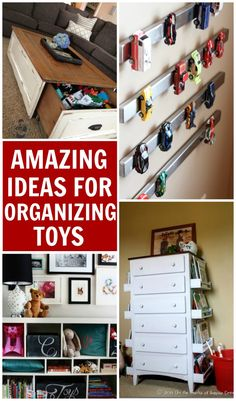 10 Amazing Ideas For Toy Organization! - Design Dazzle 10 amazing ideas for toy organization. DIY ideas for small spaces, playrooms, and living rooms that Small Space Organization, Playroom Organization, Organization Hacks, Organizing Ideas, Home Design, Design Ideas, Toy Rooms, Toy Storage, Storage Ideas