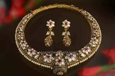 Pearls Embellished Heritage Collar Choker