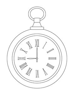 Pocket Clock Coloring Pages