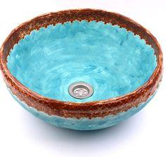 Ceramic Sink, Ceramic Bowls, Cuba, Small Basin, Bowl Sink, Potpourri, Clay Art, Sculpture Art, Serving Bowls