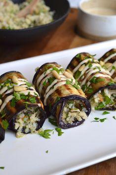 Herby Rice Stuffed Eggplant Rolls   Every Last Bite
