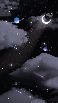 Space Phone Wallpaper, Wallpaper Earth, Night Sky Wallpaper, Planets Wallpaper, Phone Wallpaper Images, Iphone Wallpaper Tumblr Aesthetic, Iphone Background Wallpaper, Scenery Wallpaper, Cellphone Wallpaper
